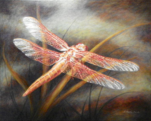 Dragonfly, Acrylic painting on canvas